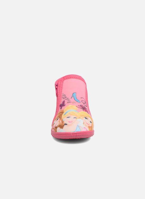 Chaussons Disney Princess Axe Rose vue portées chaussures