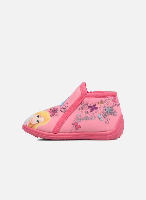 Chaussons Disney Princess Axe Rose vue face