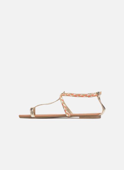 Sandales et nu-pieds Xti Kiss 033550 Or et bronze vue face