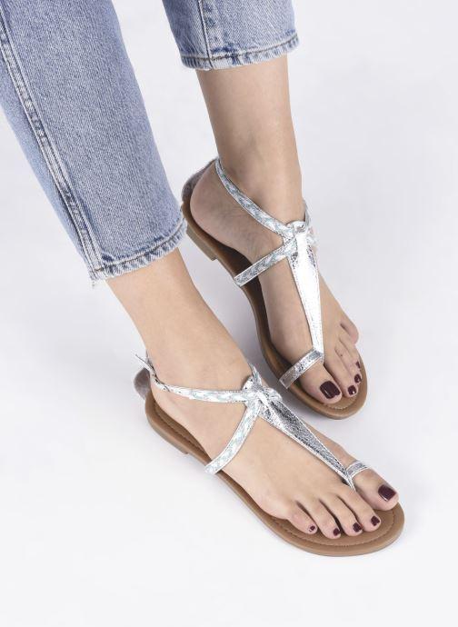 Sandales et nu-pieds Xti Kiss 033550 Argent vue bas / vue portée sac
