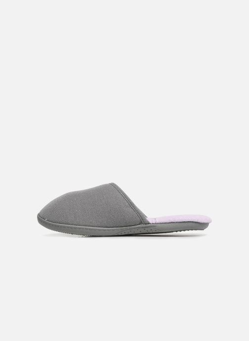 Slippers Isotoner Mule semelle ergonomique Grey front view
