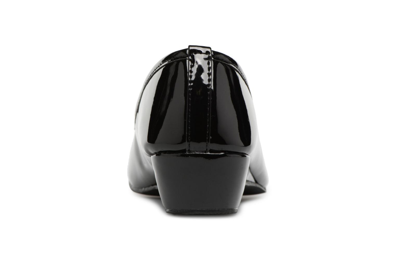Ballerines Isotoner Ballerine vernie - talon 3cm Noir vue droite