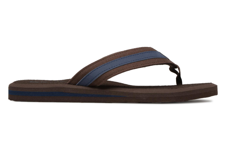 Flip flops Isotoner Tong Yoga confort Brown back view