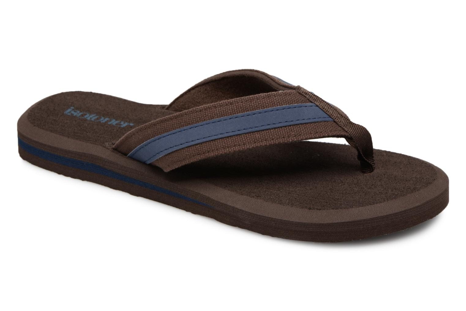 Flip flops Isotoner Tong Yoga confort Brown detailed view/ Pair view