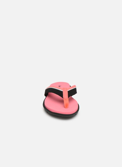 Tongs Isotoner Tong sport confort Rose vue portées chaussures