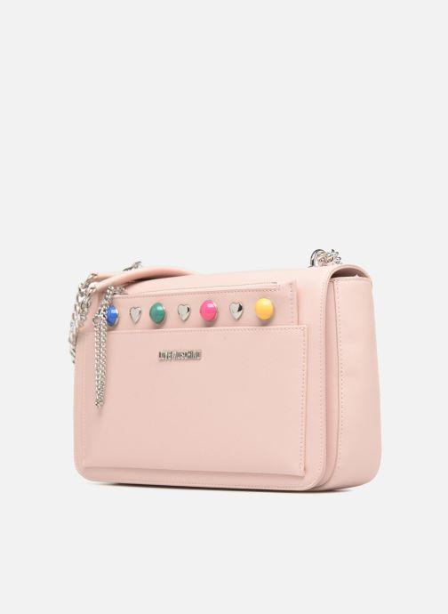 Handtaschen Love Moschino Porté épaule avec pochette amovible JC4303PP05 rosa schuhe getragen