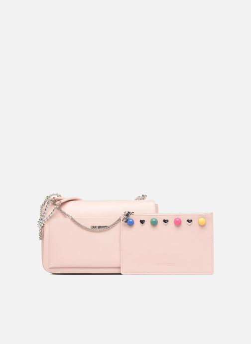 Handtaschen Love Moschino Porté épaule avec pochette amovible JC4303PP05 rosa ansicht von links