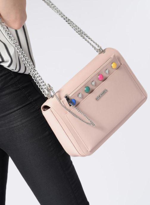 Sacs à main Love Moschino Porté épaule avec pochette amovible JC4303PP05 Rose vue bas / vue portée sac
