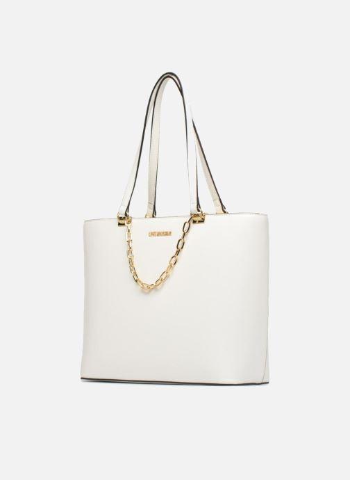 Borse Love Moschino Cabas Chaine JC4350PP05 Bianco modello indossato