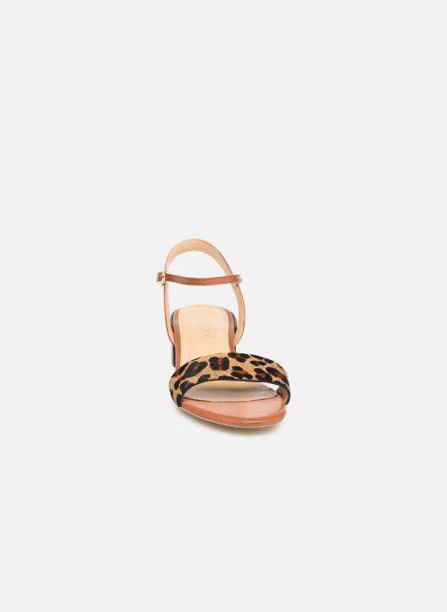 Sandales et nu-pieds Jonak VIO Marron vue portées chaussures
