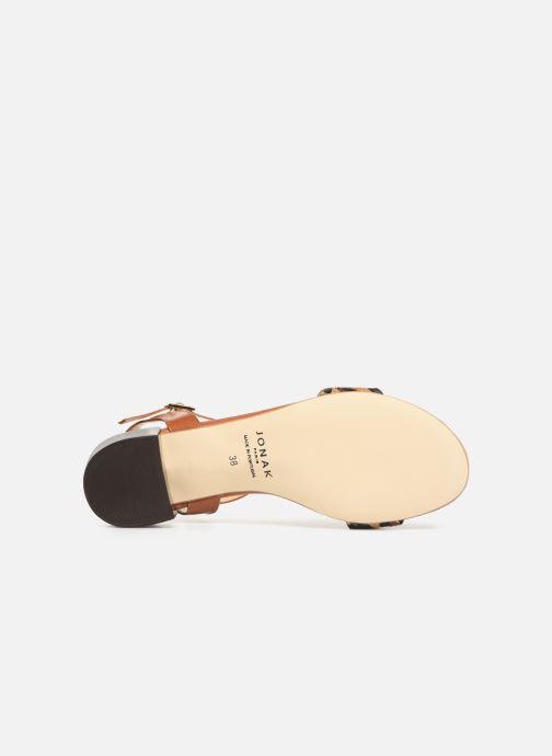 Sandales et nu-pieds Jonak VIO Marron vue haut