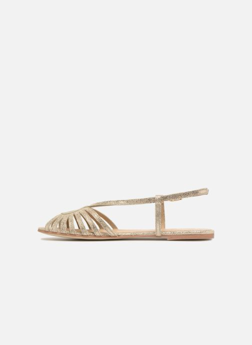 Sandals Jonak DISCUT Bronze and Gold front view