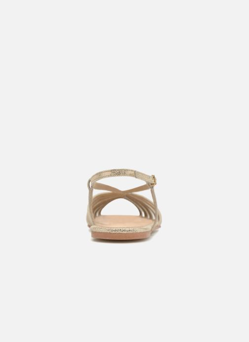 Sandals Jonak DISCUT Bronze and Gold view from the right