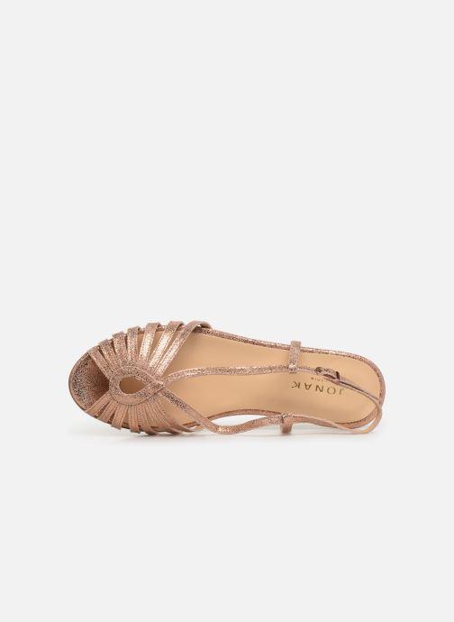 Sandales et nu-pieds Jonak DISCUT Or et bronze vue gauche