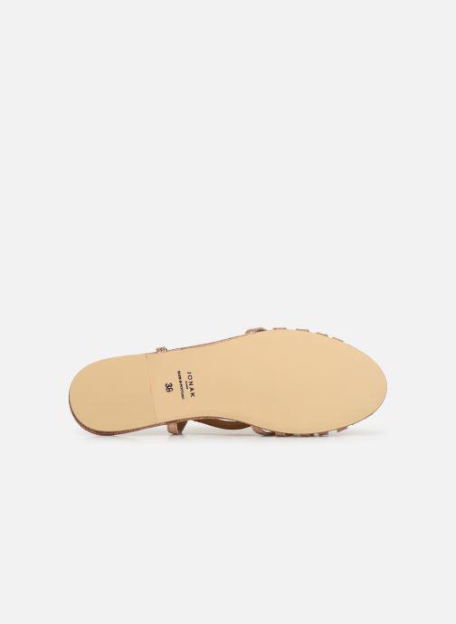 Sandales et nu-pieds Jonak DISCUT Or et bronze vue haut