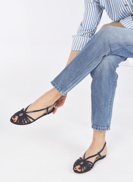 Sandalen Jonak DISCUT blau ansicht von unten / tasche getragen