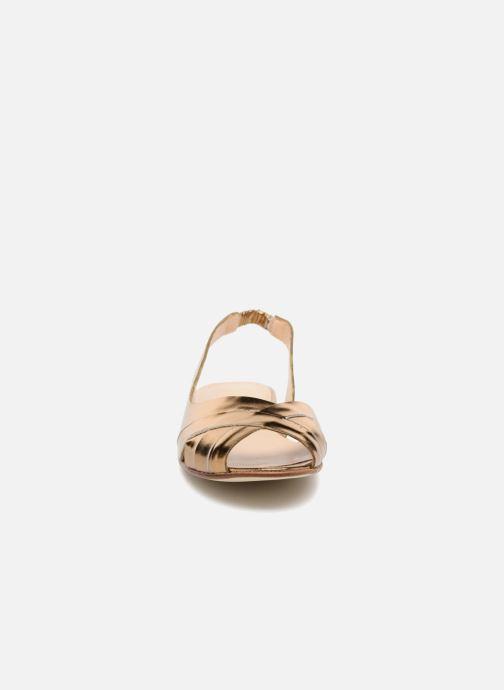 Sandales et nu-pieds Jonak DOUSSOU Or et bronze vue portées chaussures