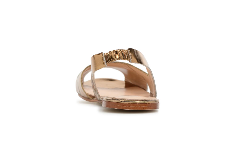 Sandales et nu-pieds Jonak DOUSSOU Or et bronze vue droite