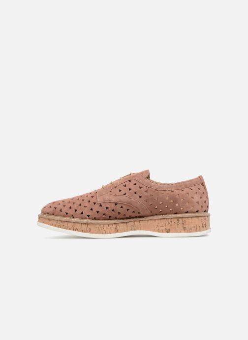 Zapatos con cordones Jonak MALOU Rosa vista de frente