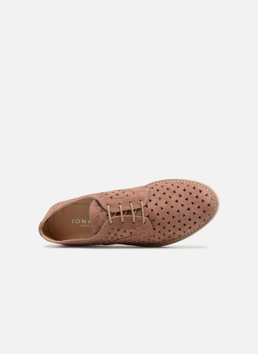 Zapatos con cordones Jonak MALOU Rosa vista lateral izquierda