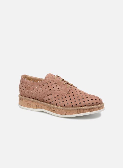 Snøresko Jonak MALOU Pink detaljeret billede af skoene