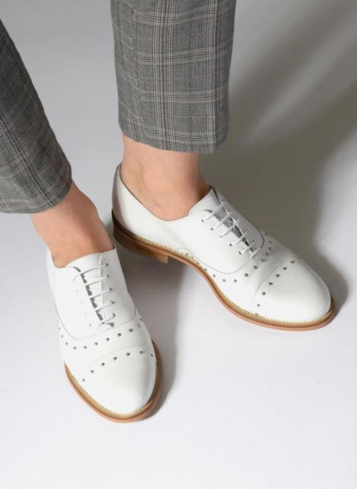 Lace-up shoes Jonak DOMUS White view from underneath / model view