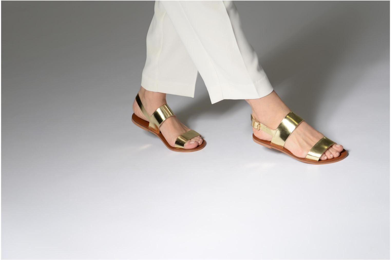 Sandales et nu-pieds Jonak SUN Or et bronze vue bas / vue portée sac