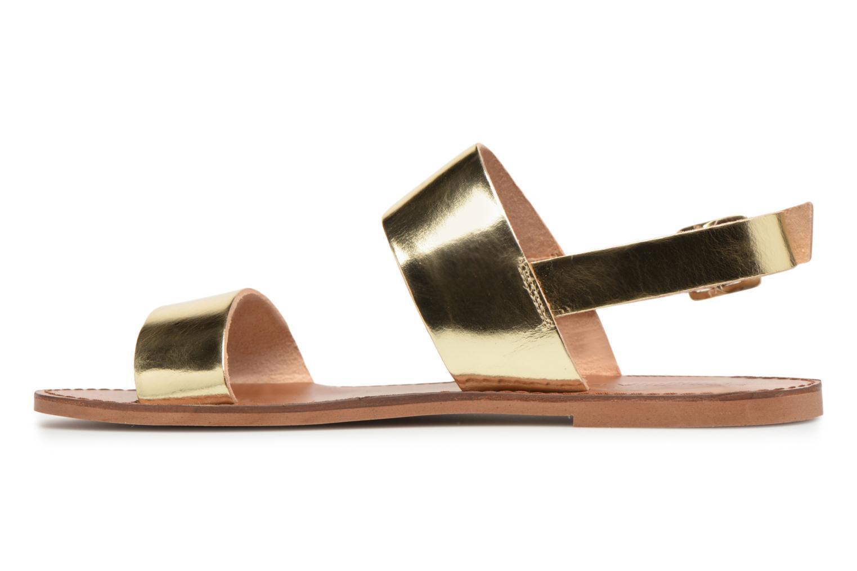 Sandales et nu-pieds Jonak SUN Or et bronze vue face