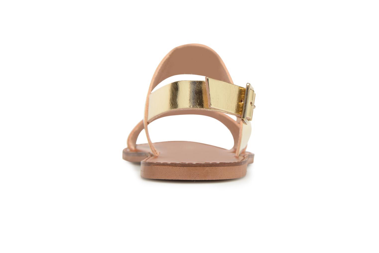 Sandales et nu-pieds Jonak SUN Or et bronze vue derrière