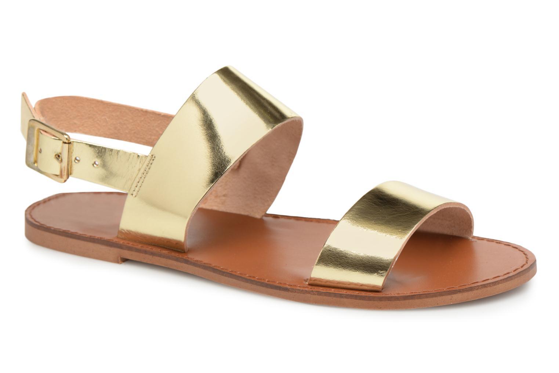 Sandales et nu-pieds Jonak SUN Or et bronze vue détail/paire