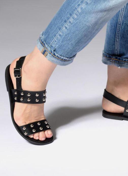 Sandales et nu-pieds Jonak SHADOW Noir vue bas / vue portée sac