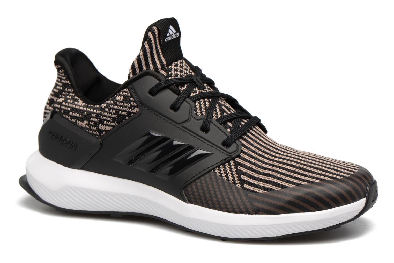 Chaussures de sport Adidas Performance Rapidarun KNIT J Noir vue détail/paire