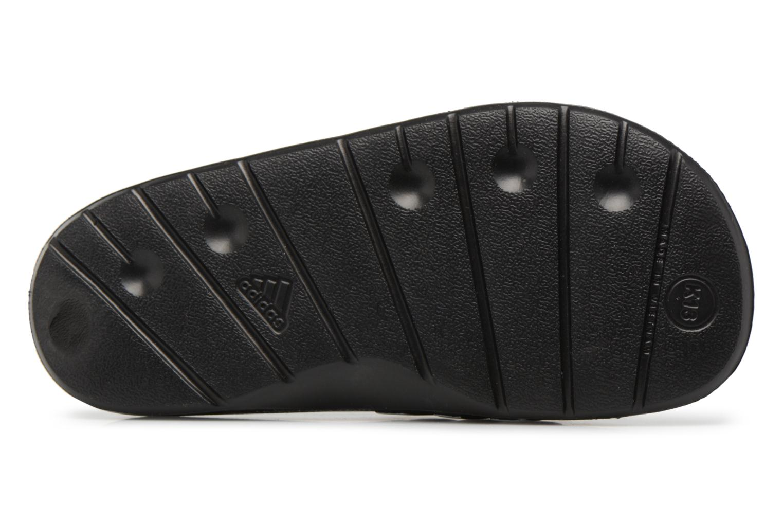 Sandali e scarpe aperte Adidas Performance Duramo Slide K Nero immagine dall'alto