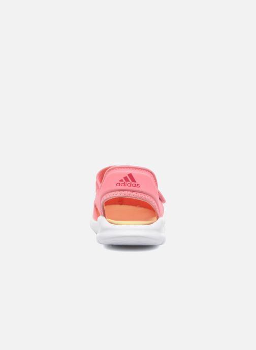 Sandalias adidas performance Fortaswim C Rosa vista lateral derecha