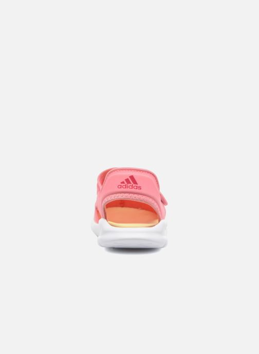 Sandals adidas performance Fortaswim C Pink view from the right