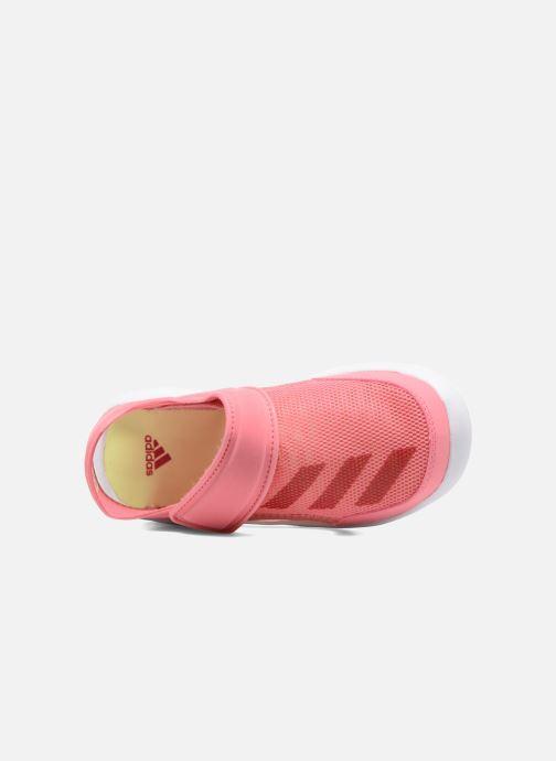 Sandalias adidas performance Fortaswim C Rosa vista lateral izquierda