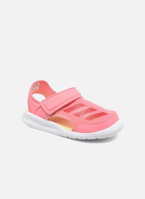 Sandals adidas performance Fortaswim C Pink detailed view/ Pair view
