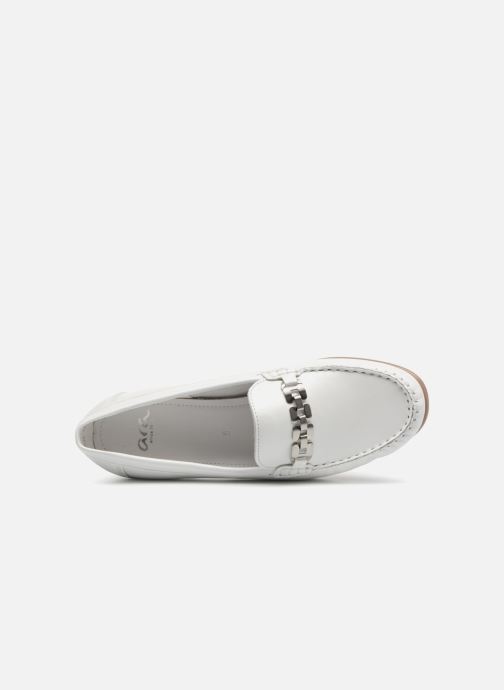 Mocasines Ara New Jersey 42234 Blanco vista lateral izquierda