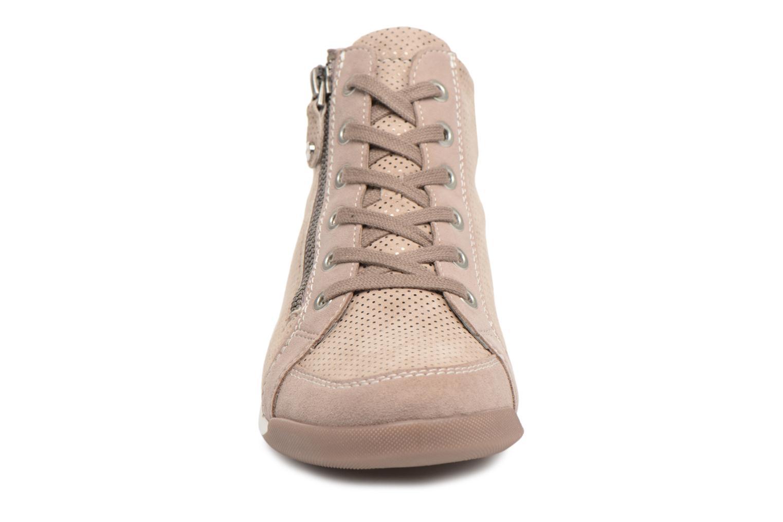Baskets Ara Rom 34410 Beige vue portées chaussures