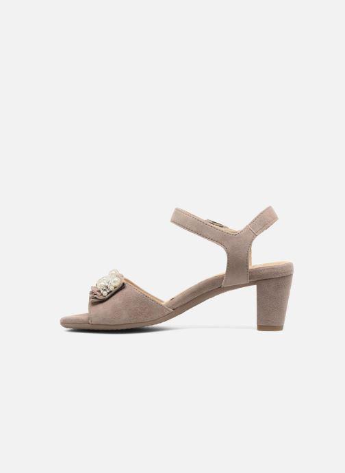 Sandales et nu-pieds Ara Massa 34675 Gris vue face