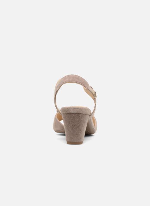 Sandales et nu-pieds Ara Massa 34675 Gris vue droite