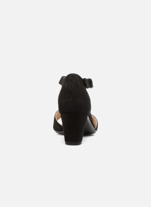 Sandales et nu-pieds Ara Massa 34677 Noir vue droite