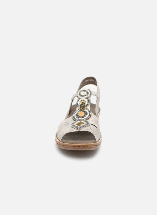 Sandales et nu-pieds Ara Hawai 37275 Gris vue portées chaussures