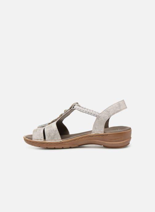 Sandales et nu-pieds Ara Hawai 37275 Gris vue face