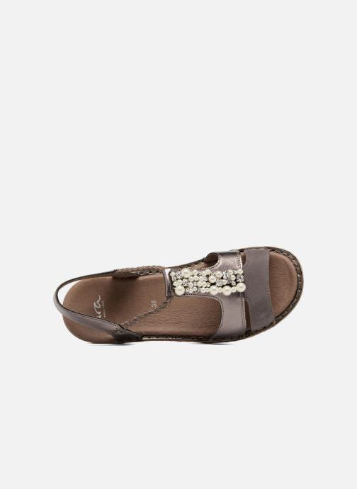 Sandales et nu-pieds Ara Hawai 27203 Marron vue gauche