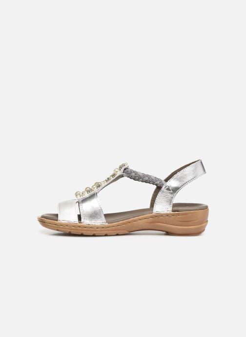 Sandales et nu-pieds Ara Hawai 27203 Argent vue face