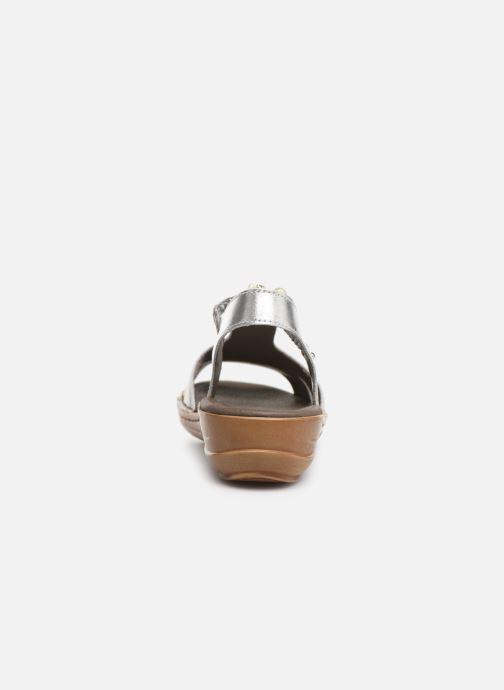 Sandales et nu-pieds Ara Hawai 27203 Argent vue droite