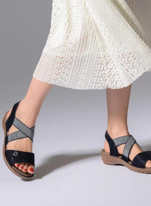 Sandales et nu-pieds Ara Hawai 27204 Bleu vue bas / vue portée sac