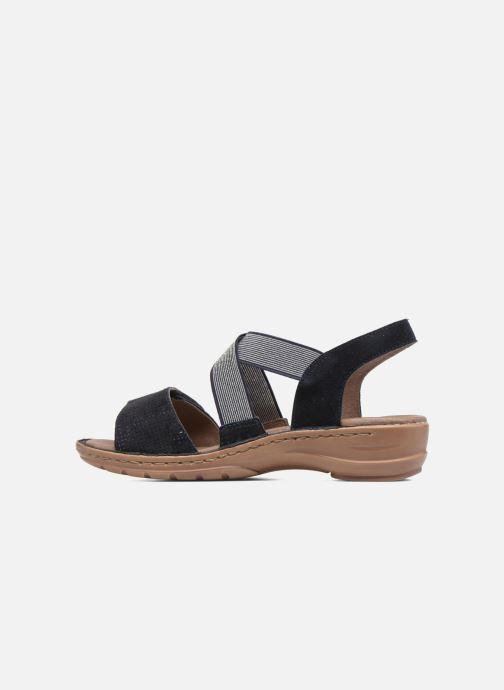 Sandales et nu-pieds Ara Hawai 27204 Bleu vue face