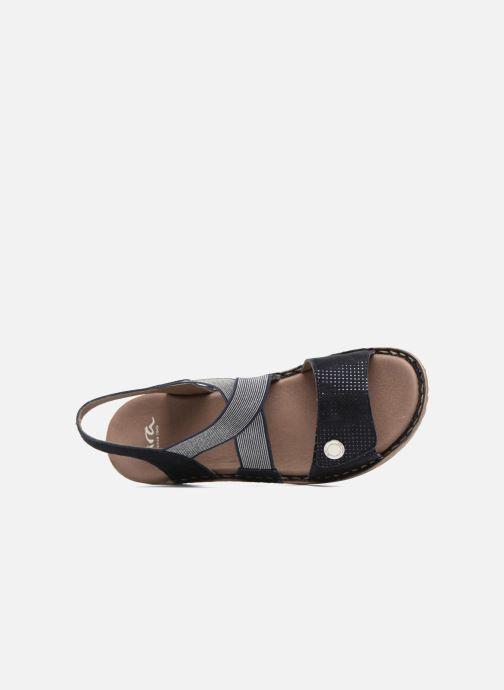 Sandales et nu-pieds Ara Hawai 27204 Bleu vue gauche